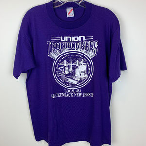 Vintage Shirts - VINTAGE Union Ironworkers graphic t-shirt